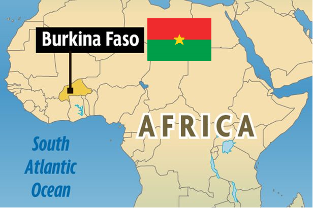 Burkina Faso Map Flag